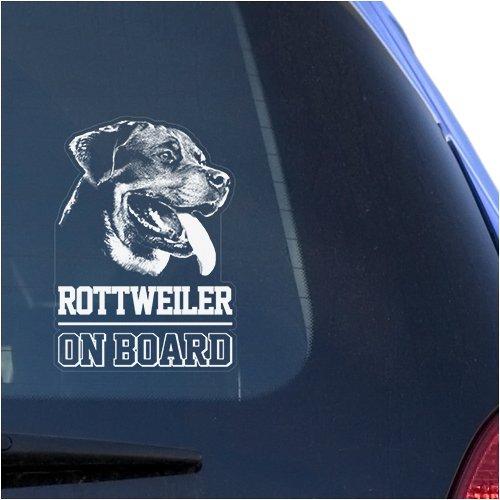 Rottweiler Clear Vinyl Decal Sticker for Window, Rottie Dog Sign Art Print