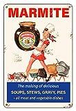 Marmite Retro Clásico publicidad Cocina Jardín Garaje Pared de Metal Garaje Señal Casa de Jardín Lata Lata Placa Placa Diseño Retro Beer Club Dimensiones 20 cm x 30 cm