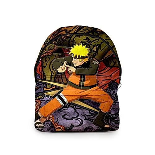 AHLBVTM Mochila informal 3D Naruto Mochila Bolso para hombres y mujeres Llavero Estilo universitario Mochila escolar B, Talla única