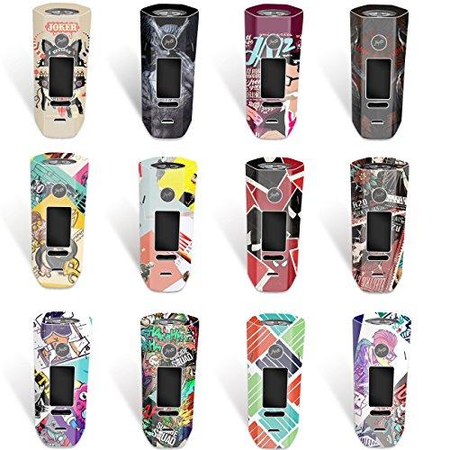 DIY-24H - Aufkleber für Wismec Reuleaux RX 2/3 Akkuträger, Mod, Skin, Wrap, Sticker, Schutzfolie laminiert (NO. 12)