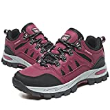 Zapatillas Trekking Hombre Mujer Zapatillas de Senderismo Transpirable Montaña Botas de Senderismo Hombre Antideslizante Caminar Rojo 38 EU