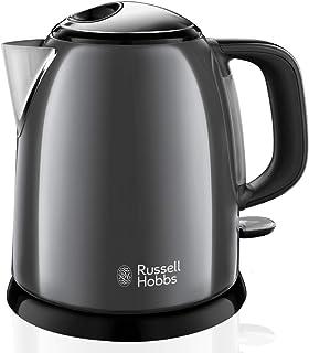 Russell Hobbs Bouilloire Compacte 1L, Ebullition Rapide, Filtre Anti-Calcaire Amovible Lavable - Gris 24993-70 Colours Plus