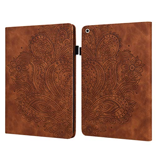 Billionn Smart Folio for iPad 8th Gen 2020 / 7th Gen 2019 Case + Screen Protector, with Pencil Holder and Auto Wake/Sleep for iPad 10.2' 2020/2019, Brown