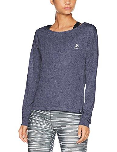 Odlo T- Shirt Running Femme ML Helle Course, Peacoat Melange, FR : S (Taille Fabricant : S)