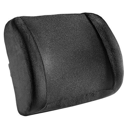 RICOO SK-R0110 Cojin Silla Oficina Cojín Lumbar para Respaldo Ortopedico ergonomico Despacho Terapeutico Acolchado Espalda Ciatica Negro
