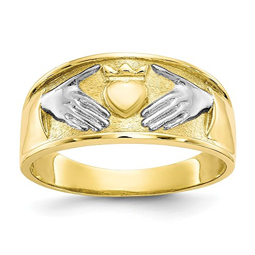 Jewels By Lux Anillo de rodio Claddagh para Hombre