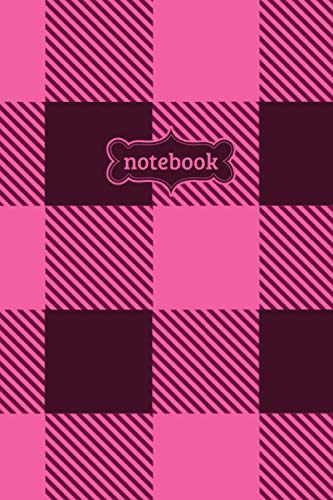 Notebook: Pink Buffalo Check Plaid Flannel Lumberjack Pattern Journal - Lined Journal & Diary for Writing Taking Notes (6