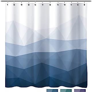 پرده دوش طراح نور آفتاب ، پرده دوش محبوب ، پرده حمام پارچه ای آبی شیب شیب برای تزئین حمام ، پرده حمام معاصر