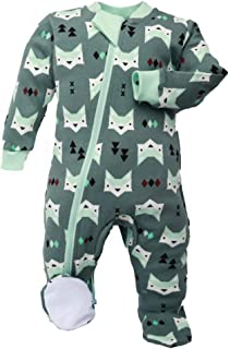 Organic Baby Footed Sleeper Pajamas with Inseam Zipper for Quicker and Easier Diaper Changes