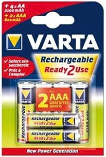 Varta Battery NiMH AA/LR6 1.2 V 2100 mAh R2U 4+2-blister [VARTA-567R2USO]