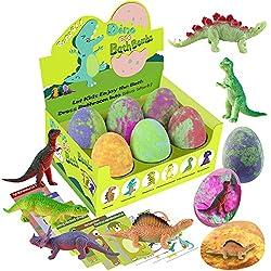 7. STARYAR Dinosaur Bath Bombs for Kids (6 pieces)