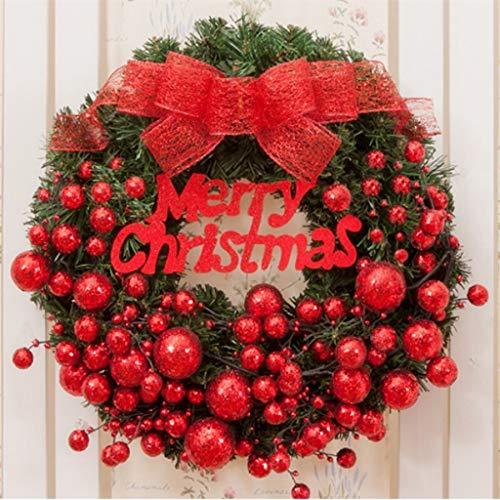 Jia He Decorazione Corona di Natale, Decorazione Natalizia, Pendere Porta Natale, Rattan Anello, Negozio dell'hotel, Finestra di Natale, Albero di Natale, 3 Colori ## (Color : B, Size : 50x50cm)