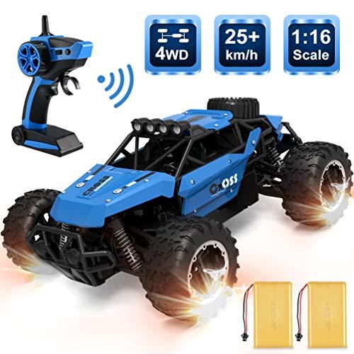 RC Auto kaufen Buggy Bild: allcaca Buggy RCAuto Offroad 4WD Ferngesteuertes Auto 1/16 Maßstab 2.4GHz Funkfernsteuerung 25KM/h RC Geländewagen Auto Spielzeug für Erwachsene und Kinder, Blau*