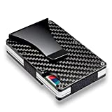 WICHEMI Carbon Fiber Money Clip Wallet Aluminum Credit Card Wallet Mens Minimalist Slim Credit Card Holder