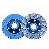 CJBIN Disco de lijado de diamante de alta calidad para hormigón, 100 mm x 20 mm, disco de lijado de diamante universal para hormigón, granito, piedra natural, mampostería, pavimento, color azul