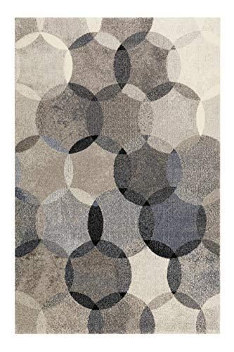 Teppich Blau Grau Kurzflor für Wohnzimmer Schlafzimmer Flur Kinderzimmer Esprit Home MODERNINA das Original (80 x 150 cm)
