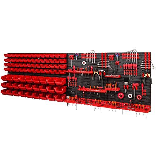 Lagersystem 2304x780mm Stapelboxen Wandregal Sichtlagerkästen Schüttenregal 83 Boxen