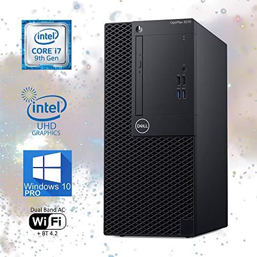 Dell Optiplex 3070 Mini-Tower Computer, Intel Core i7-9700T Upto 4.30GHz, 32GB RAM, 256GB M.2 NVMe SSD, Wi-Fi, Bluetooth, DisplayPort, HDMI, DVD-RW - Windows 10 Pro