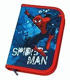 Undercover SPON0440 - Schüleretui Spiderman mit Stabilo, Markenfüllung, 30-teilig, blau