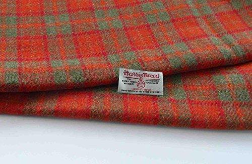 Authentic Harris Tweed Stoff 100% reine Wolle mit Etiketten.. 75cm x 50cm –-Nr. F11–--...