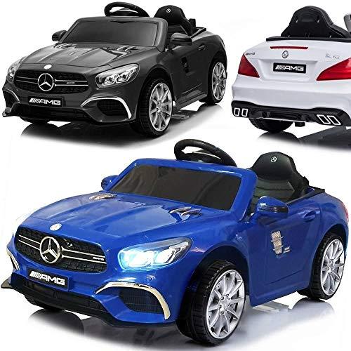 Kinder Elektroauto elektrisches Kinderauto Mercedes Benz SL63 AMG LIZENSIERT mit 12V Akku 2x45W Motoren USB MP3 Licht Federung
