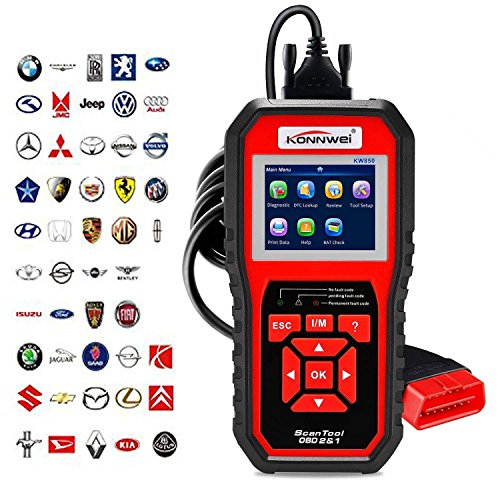 OBD2 Scanner OBDII Auto Diagnostic Code Scanner Universal Vehicle Engine O2 Sensor Systems OBD2 EOBD Scanners Tool Check Engine Light Automotive Code Reader for all OBD II Protocol Car Since 1996