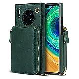 Étui portefeuille en bandoulière pour Huawei Mate 30, avec porte-cartes, béquille, fermeture...