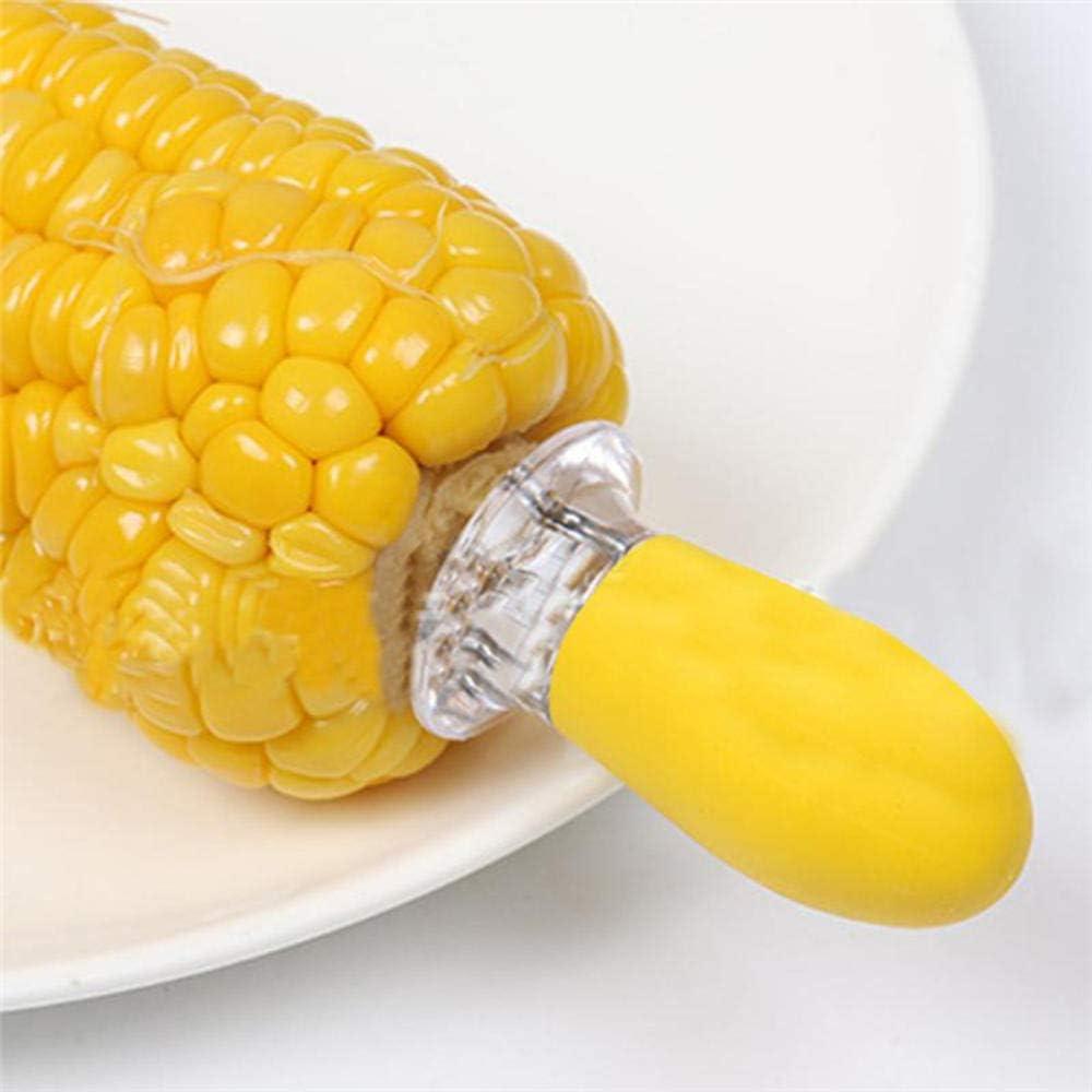 Generies Supports de maïs réutilisables pour Barbecue,maïs en Acier Inoxydable sûr sur Les Supports d'épi Brochettes de Hot-Dog Broches d'aiguille pour Outils de Barbecue 2Pcs 02