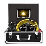 Kanal Kamera Endoskope, 50m Rohr Inspektionskamera mit DVR Funktion Abflussrohr-Inspektionskamera zur Überprüfung der Abwasserleitung IP68 Wasserdichtes Kanalkamera System 7' TFT LCD Monitor 1000TVL