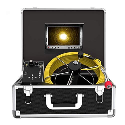 Kanal Kamera Endoskope, 50m Rohr Inspektionskamera mit DVR Funktion Abflussrohr-Inspektionskamera zur Überprüfung der Abwasserleitung IP68 Wasserdichtes Kanalkamera System 7