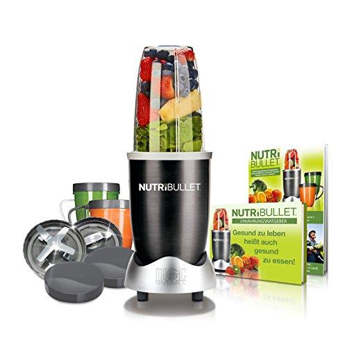 NutriBullet EXTRAKTOR Basis Batidora de vaso 600W Gris - Licuadora (Batidora de vaso, Gris, 600 W)