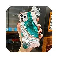 Dnhai for iPhone用大理石の電話ケース1112 Pro Max Mini SE 2 2020 7 8 Plus X XS MAXXRケースシリコン漫画フルプロテクターカバー -WV N 7-for iPhone X XS