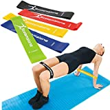 Scotamalone Resistance Loop Bands,Exercise Bands for Workout, Fitness,Stretch, Physical Therapy, Yoga,Rehab with Exercise Guide,Carry Bag