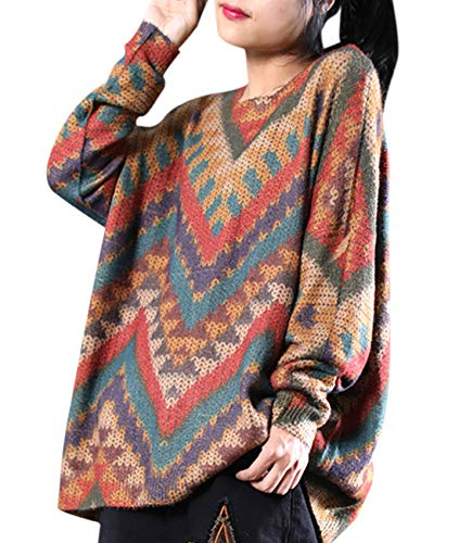 Feature: Multi Color Large Arrow Print; Crew Neck; Long Sleeve Occasion: Casual Wearing for House; Shopping; Holiday; Street Fashion; Daily wear PleaserefertotheSizeChartintheProductDescriptionbeloworthe5thImagebeforeordering Hand Was...