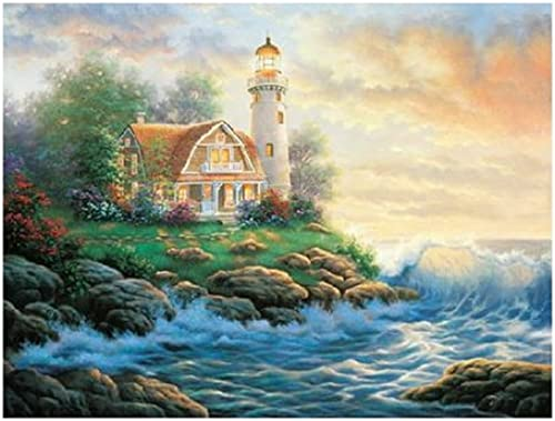 Master Pieces A Perfect Place Lighthouse 550 Piece Jigsaw Puzzle by Master Pieces