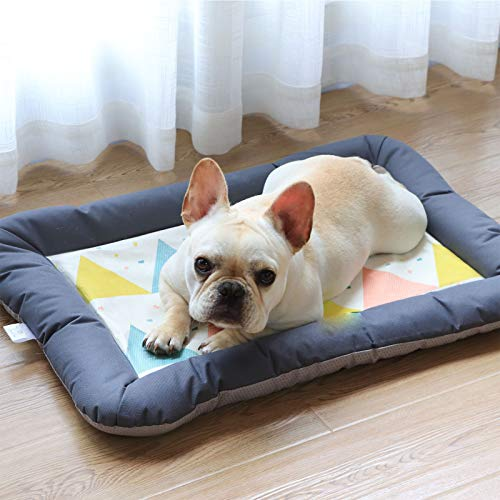 TIYKI Dog Bed Kennel Pad,Crate Mat Four Seasons Mat,Cooling Pet Mat For Outdoor Or Indoor Use,Sleeping Padfor Dogs And Cats-A 68x47x5cm(27x19x2inch)