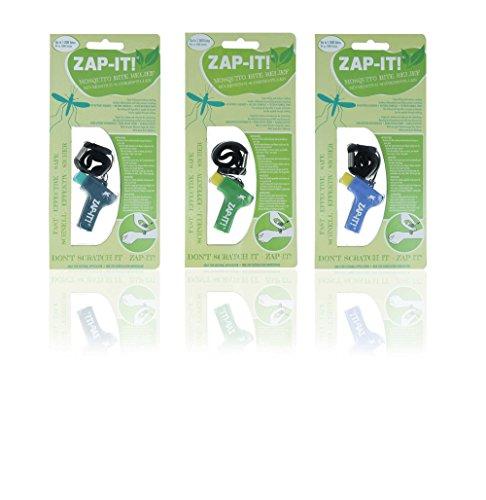 Horn Medical Zap IT Mückenschmerzstiller, 3er Set, klinisch getestet (1 x Türkis, 1 x Grün, 1 x Blau)