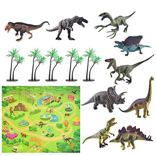 jingjing 2021 Nuevo regalo – 12 piezas de simulación de escena, modelo de animales marinos, juego de mapa de dinosaurios (B)
