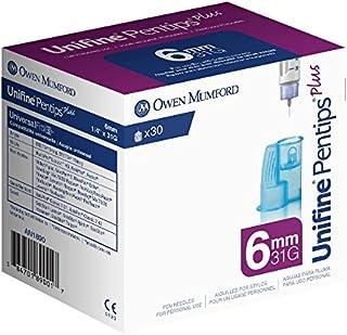 Unifine Pentips Plus Pen Needles, 6mm X 31g, 30 Count
