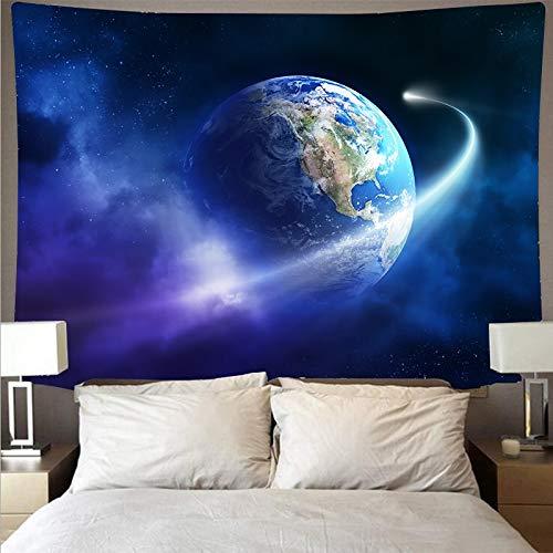 KHKJ Misterioso Universo Cielo Estrellado Cielo Espacio Galaxia Arte Tapiz psicodélico Colgante de Pared Toalla de Playa Tela Colgante A4 95x73 cm