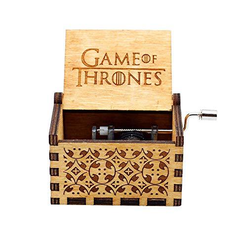 Reine Hand-klassischen Musik-Box - Game of Thrones Thema Holz Musik Box, Hand-hölzerne Spieluhr kreative Holz Handwerk Kinder, Freunde