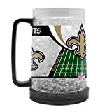 NFL New Orleans Saints 16oz Crystal Freezer Mug
