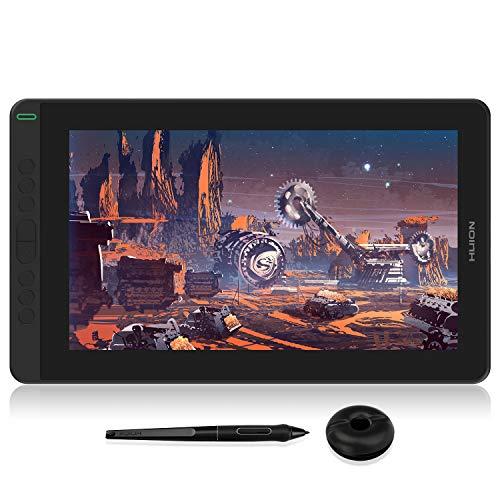2020 Huion Kamvas 13 GS-1331 Mesa digitalizadora e Monitor de desenho gráfico 2 em 1 Tablet, com Caneta Stylus de 8192 pontos de pressão Sem bateria e 8 teclas de atalho e 10 pontas extras - preto