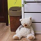 CURVER Abfallbehälter 25L Flip Bin Leather Design Schwingdeckel Mülleimer Küche Haushalt - 3
