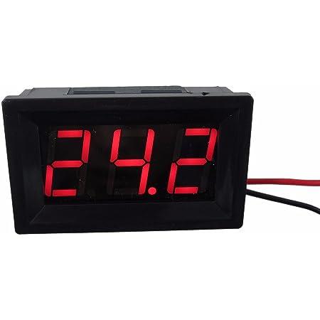 """DIGITEN 0.56"""" Red DC 4.5-120V Digital Voltmeter Voltage Measurement 2 Wires Gauge LED Panel"""