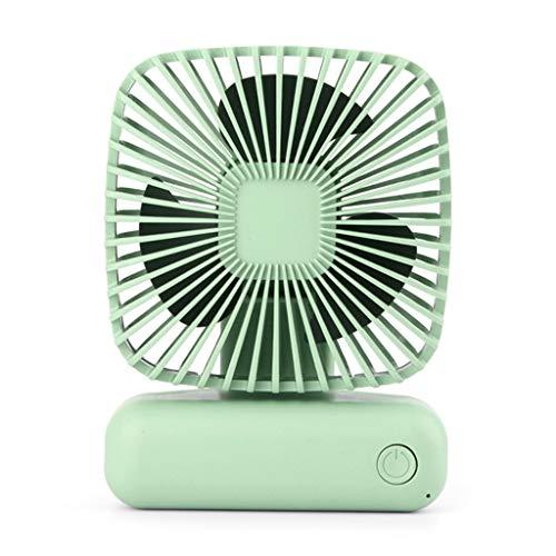 CAREMiLLE Portátil Mini Ventilador de Escritorio Herramienta de Refrigeración por Aire de Mano Simple USB 3 Velocidades para el Hogar, Mini Ventilador Portátil Plegable, Verde