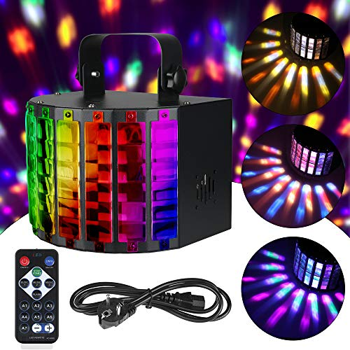 Anpro Bühnenbeleuchtung, LED Party Disco Licht Party Lampe DMX 512 in 9 Lichtfarben mit Fernbedienung für Feste und Geburtstage