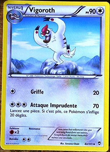 carte Pokémon 82/111 Vigoroth 90 PV XY03 XY Poings Furieux NEUF FR