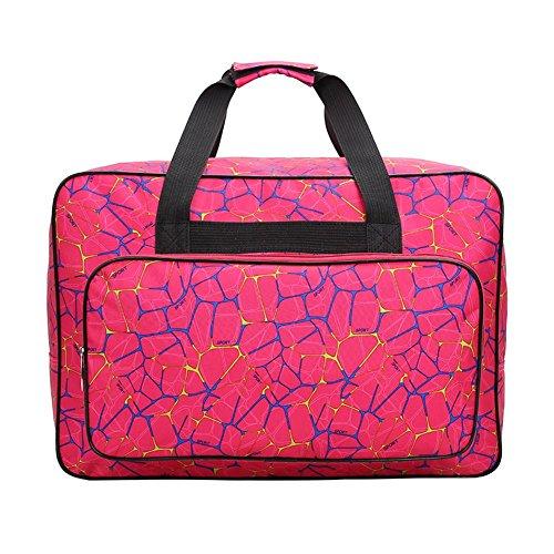 Domybest Unisex große Kapazität Reisen tragbare Tote Nähmaschine Taschen (Rose Red)