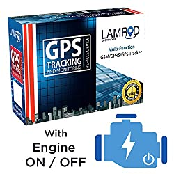 LAMROD Supreme PRO Car/Bike GPS Tracker with Engine ON/Off Function and 1 Year Sim Data,LAMROD